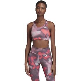 adidas D2M AOP BT Sport BH Dames, roze/wit